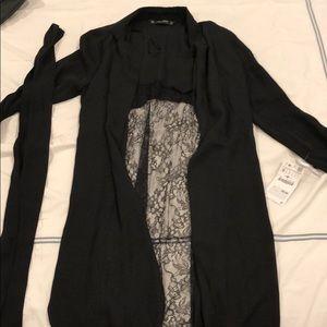 Zara lace back duster